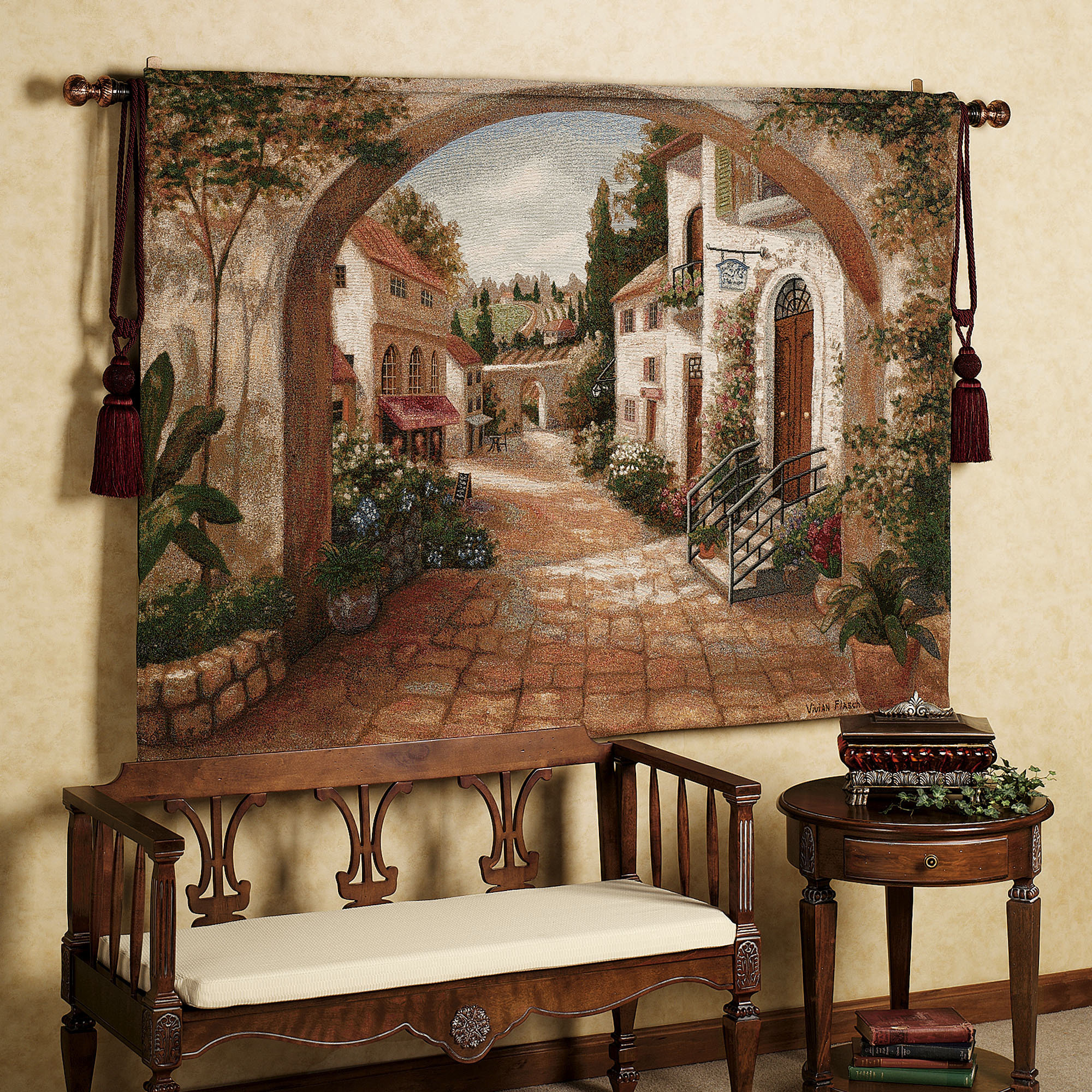 Small Tapestry Living Room